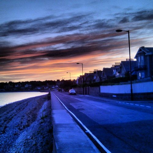 Broughtyferry Dundee Sunset Beach river scotland tay ecosse escocia ferry clouds camino road coast mar mer plage playa