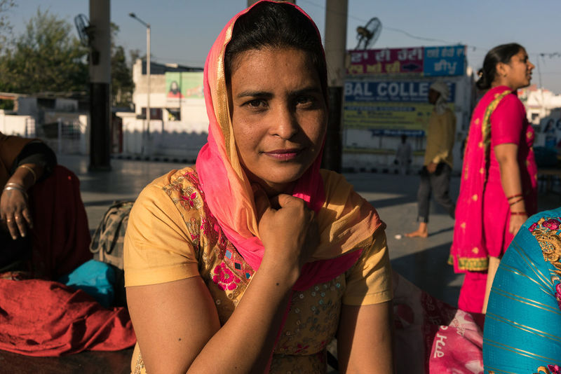 ANANDPURSAHIB Anandpur Sahib Everyday Lives India Portrait Of A Woman Portraits Punjab Travel Travel Photography Day Outdoors Portrait Real People Street Photography Women Young Adult Young Women