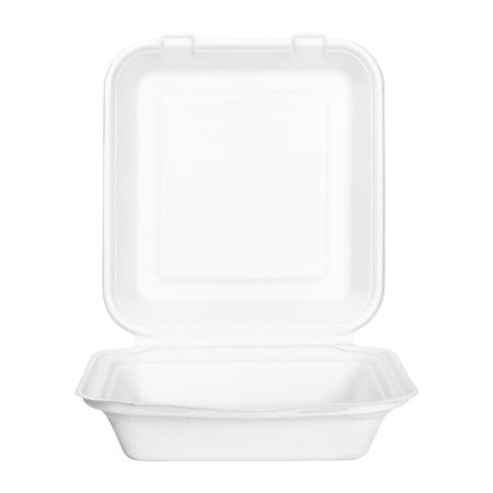 Food box or container isolated on white background. Fast food package made from natural paper material. ( Clipping path ) White Background Studio Shot Indoors  No People Cut Out White Color Simplicity Single Object Household Equipment Close-up Copy Space Shape Still Life Empty Container Box - Container Box Food Package Paper Packaging Paper Box Open Isolated Clipping Path
