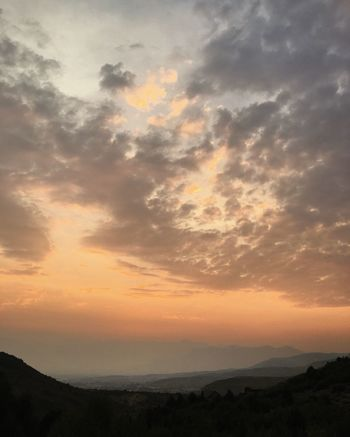 widespread wildfire smoke. Wasatch County Utah Heber City Wasatch County Sky Cloud - Sky Beauty In Nature Sunset Scenics - Nature Tranquility Tranquil Scene