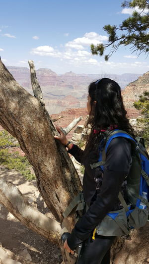 Looking Out Grand Canyon South Rim Arizona Hiking Female Landscapes Canyon Non Recognizable Female Outdoors Active