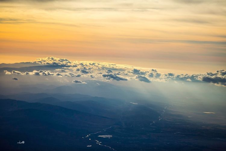 Relaxed Sunset Bestoftheday Photography EyeEm Best Shots Travel Destinations Sky Beauty In Nature Scenics - Nature Cloud - Sky Tranquil Scene Winter Tranquility Landscape Aerial View