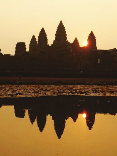 Sunrise in Angkor wat Angkor Wat Siem Reap Temple Sunrise Cambodia Travel