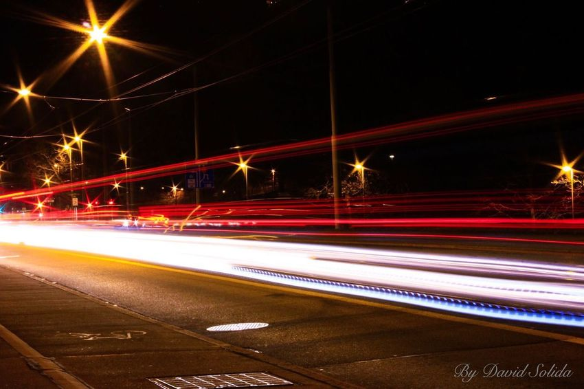 Basel city Langzeitbelichtung Night Street Light Road City Outdoors Canonphotography Photography
