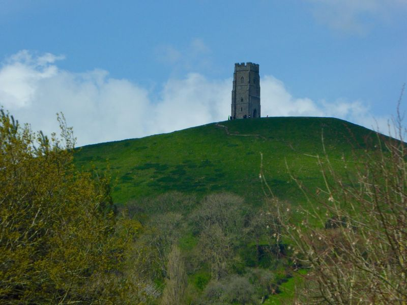 Glastonbury Tor Drivebyphotography Hill Taking Photos Blue Sky Green Grass From A Distance Enjoying The Sun Cloud Perspective TreePorn Beatiful Walking Around