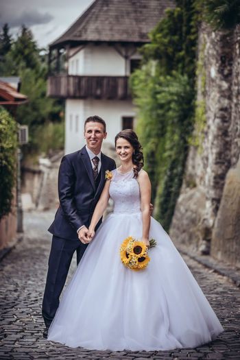 💏 Fujifilm Xpro2 Wedding The Week on EyeEm Love Couple Fashion Outdoors Slovakia🇸🇰 Two People Bride Bridegroom Wedding Dress Young Women Evening Gown Well-dressed Women Togetherness Portrait Married Groom