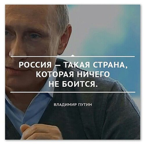 """президент ПрезидентРоссии : """"Россия - такая страна, которая ничего не боится."""" - В. В. путин . Русь РоссияМать РоссияСтрашнаяСила ничегонебойся НикогдаНеСдавайся @KremlinRussia @PutinRF"""