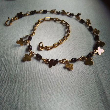 Junk Jewellery Anklet Happiness
