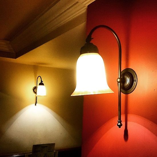 A couple of Lamps in a Pub Lights Lightshade illumination weatherspoons thestandingorder stevenage xperiaz3