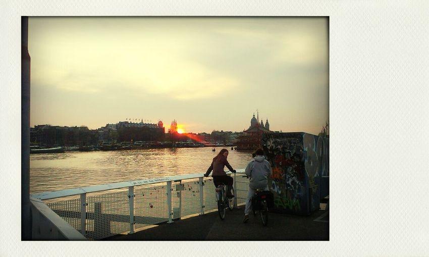sunset over amsterdam. Sunset Amsterdam