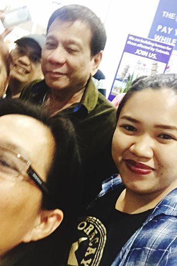 Selfie with our mayor :) Duterteforpresident Thebestmayor