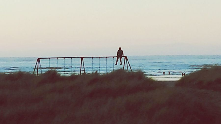 Seaside, Oregon Life At The Beach Sitting On Top The World Watching For Any Sign Of The Sun Up High