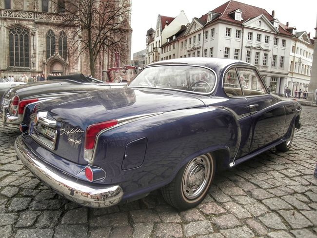 Borgward Oldie  First Eyeem Photo Eyemphotography Mode Of Transportation Transportation Motor Vehicle Car Land Vehicle Built Structure Building Exterior No People Building Day