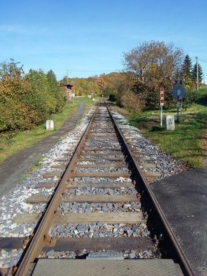 The Way Forward Diminishing Perspective Day Railroad Track Outdoors Transportation Tree No People Sky Train Station Trainway Czech Republic🇨🇿