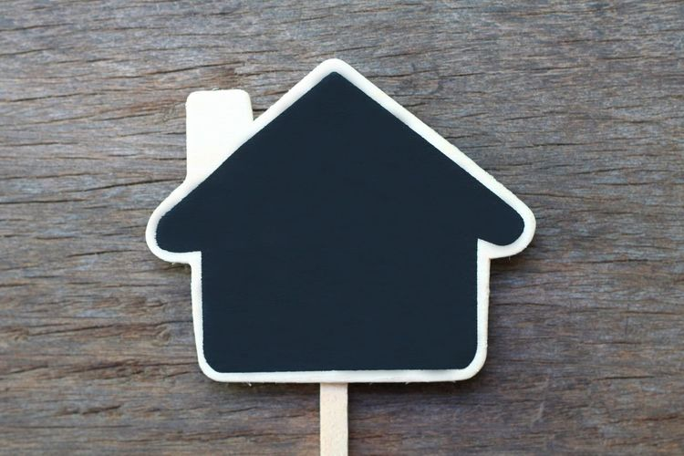 Black chalkboard house shape on wood background Home Architecture Copyspace Space Blackboard  Writing Write It Down House Sign Icon Building Black Wood Wooden Blackground Chalkboard