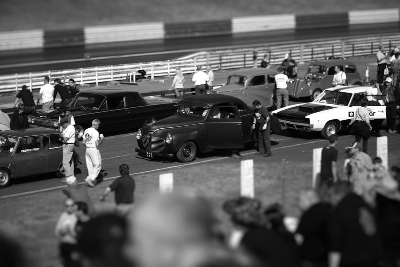 Automobile Cars Day Drag Race Group Of People HotRods Large Group Of People Leisure Activity Lifestyles Race Race Day Retro Selective Focus Styling Unrecognizable People