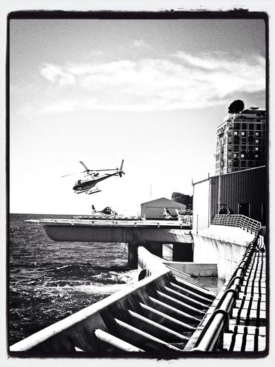 Sky And Sea The Explorer - 2014 EyeEm Awards Helicopter Black & White