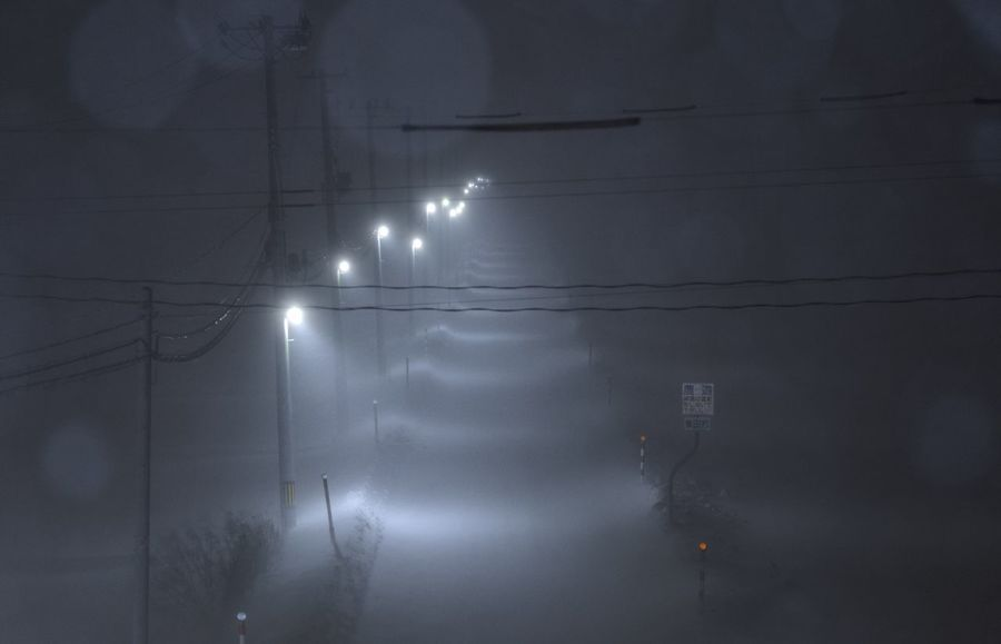 Snow Winter Light Japan Illuminated Electricity  Night No People Low Angle View Sky Outdoors