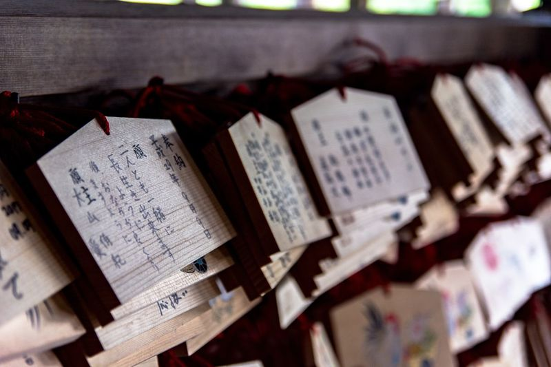 Wishful thinking Wish Temple Kiyomizu-dera Japan Photography Eyeemtravel  EyeEmNewHere Japan Text Communication Paper Belief Religion Spirituality Script Close-up Non-western Script Place Of Worship Selective Focus Still Life Message Hanging Day The Traveler - 2018 EyeEm Awards