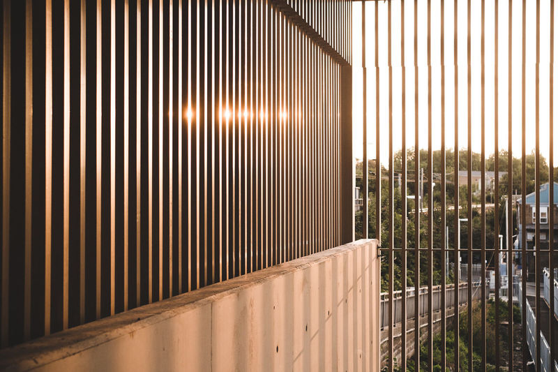 London underground Architecture Built Structure No People Sunlight Pattern Metal Nature Day Outdoors Building Exterior Wall - Building Feature Modern Railing Plant Barrier Boundary Fence Building Wall Corrugated Iron Iron Corrugated