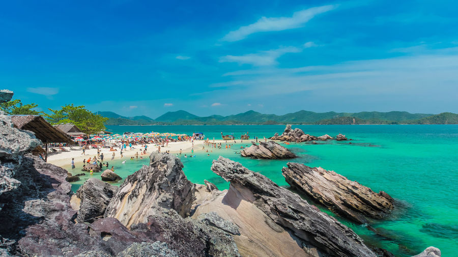 เกาะไข่ khokhai Beach Beauty In Nature Cloud - Sky Island Sea Sea And Sky Seascape Season
