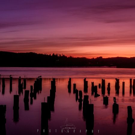 First light Canon Oregon Coast Sunrise Firstlight Bay Coos Bay Oregon Jeremiah Jewell Photography Reflection Nature Water Boardwalk EyeEmNewHere