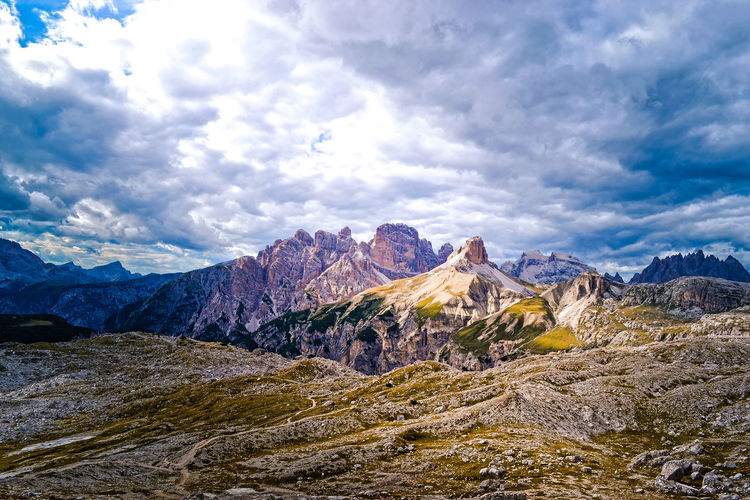 Light on Italia dolomites Mountain Cloud - Sky Sky Beauty In Nature Scenics - Nature Mountain Range Landscape Environment Rock Tranquil Scene Nature Tranquility Non-urban Scene Day Idyllic Solid Rock - Object Remote Land No People Outdoors Mountain Peak Formation Alps Italy