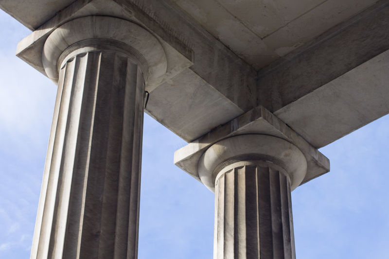 Low Angle View Architecture Architectural Column Built Structure No People Day Sky Building Exterior City Outdoors Tower Sunlight Neo-classical Colonnade