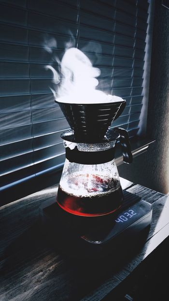 Adventure in life is good; consistency in coffee even better. Kalitawave Pourover Coffee Smoke - Physical Structure Indoors  No People Heat - Temperature Steam Shadow Day