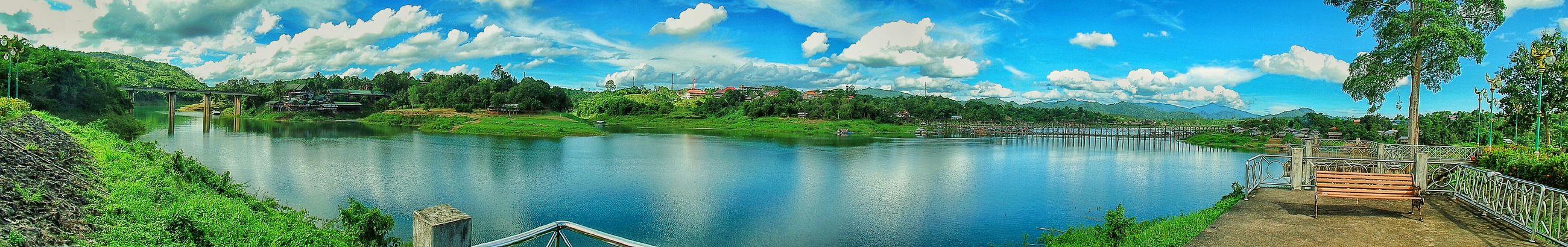 Panorama Clouds And Sky View Waiting ท้องฟ้ากับท้องน้ำ จุดชมวิว Clouds Enjoying Life Relaxing ลำน้ำซองกาเลีย