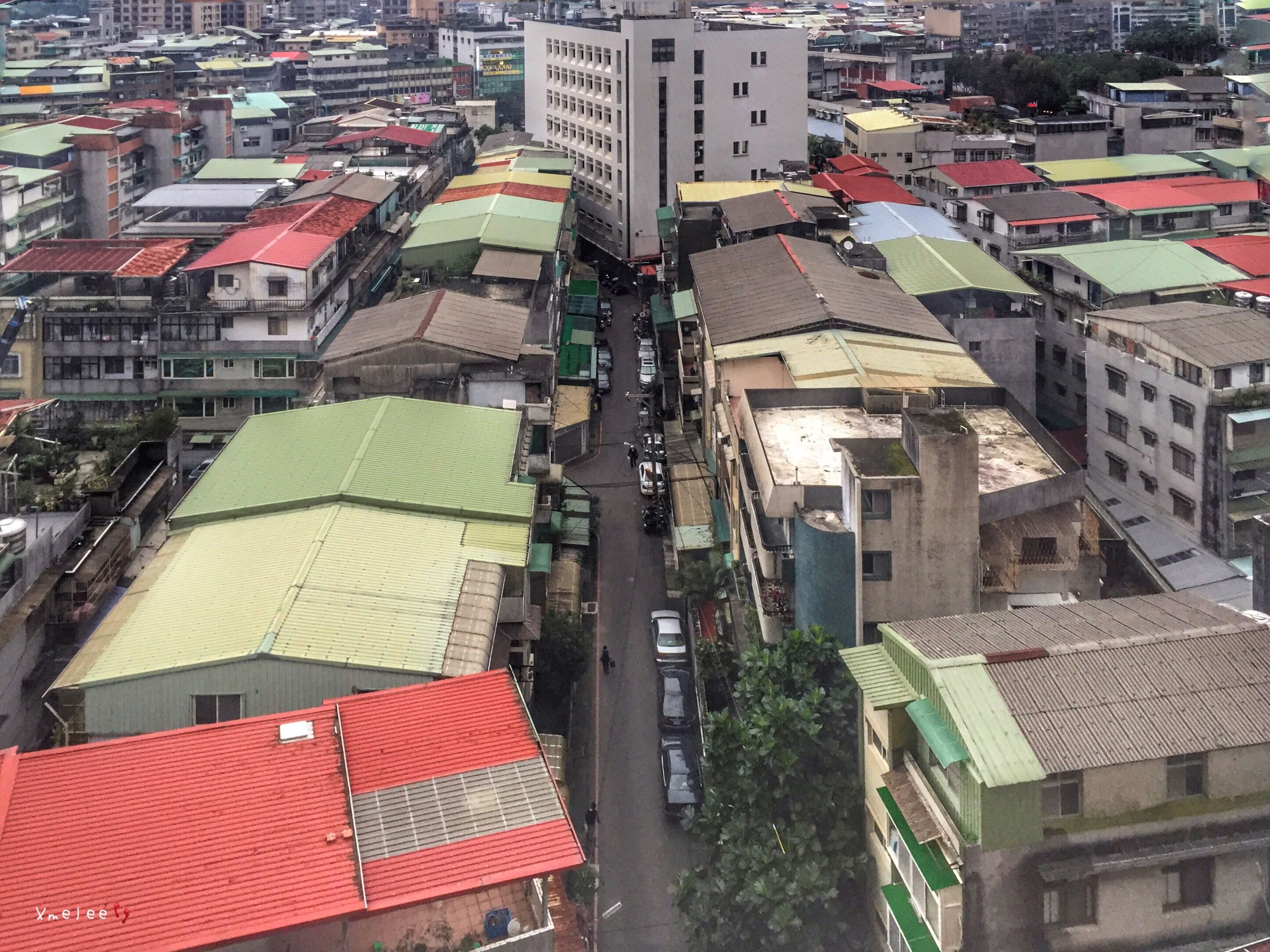 building exterior, architecture, built structure, roof, city, residential structure, high angle view, residential building, house, residential district, crowded, town, day, cityscape, outdoors, building, rooftop, city life, roof tile, no people