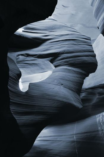 Rocky Terrain Beautiful Nature Peace In Nature Bucket List Hidden Places Desert Beauty The Great Outdoors - 2016 EyeEm Awards The Great Southwest EyeEm Best Shots - Nature Nature Is Beautiful Famous Places Antelope Canyon Black And White Shades Of Blue Color Palette Breathing Space
