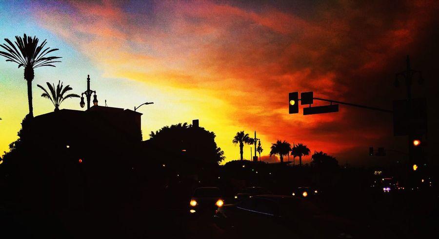 >Fear< Fire Los Angeles, California Orange Sky Smoke Santa Clarita Silhouette Contrast Colour Of Life Ice Age