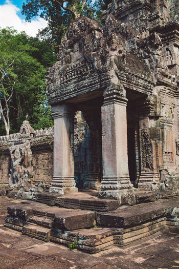 Siem Reap Cambodia Angkor Architecture History Built Structure The Past Place Of Worship Ancient Religion Travel Destinations Belief Tree Tourism Travel Plant Building Spirituality Ancient Civilization Building Exterior Day Nature No People Outdoors Archaeology Architectural Column Ruined