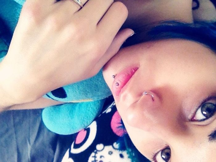 Self Portrait Selfportrait That's Me Piercing Ugly Doll Lip Piercing (; Nose Piercing Hello Kitty