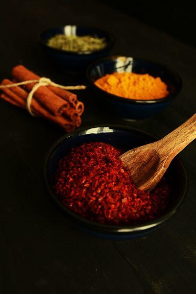 Kitchen Darkfood Cinnamon Cinnamonrolls Saffron Crocus Colchicum Red Peppers Thyme Napkin Woodenspoon Spices Napkins