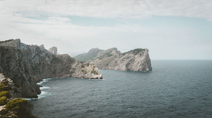 Mallorca Beauty In Nature Cap Cliff Day Formentor Horizon Landscape Nature No People Outdoors Scenery Sea Sky Tranquility Water Wilderness