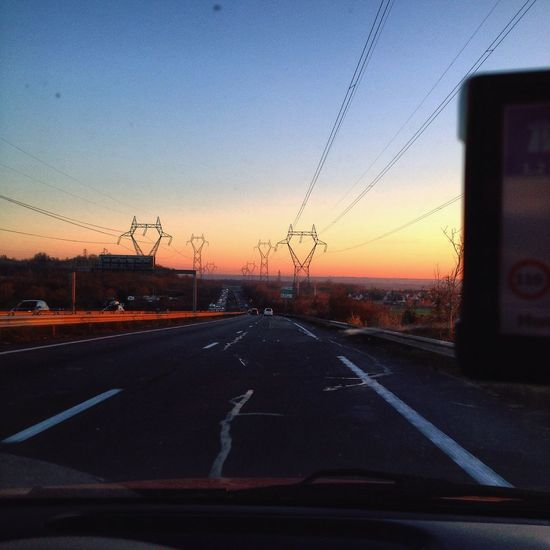 Road Sunset Beautiful Niceweather France