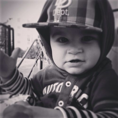 My Baby Thug<3... Black And White Cute Baby Snapback