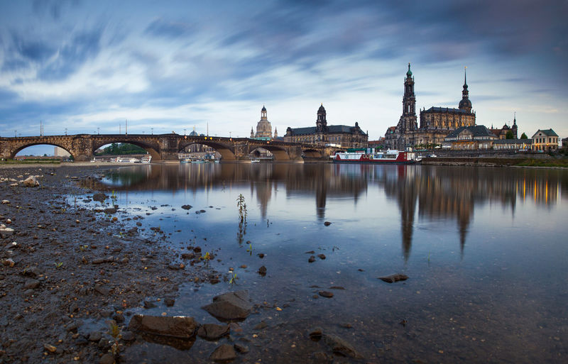 View of dresden waterfront
