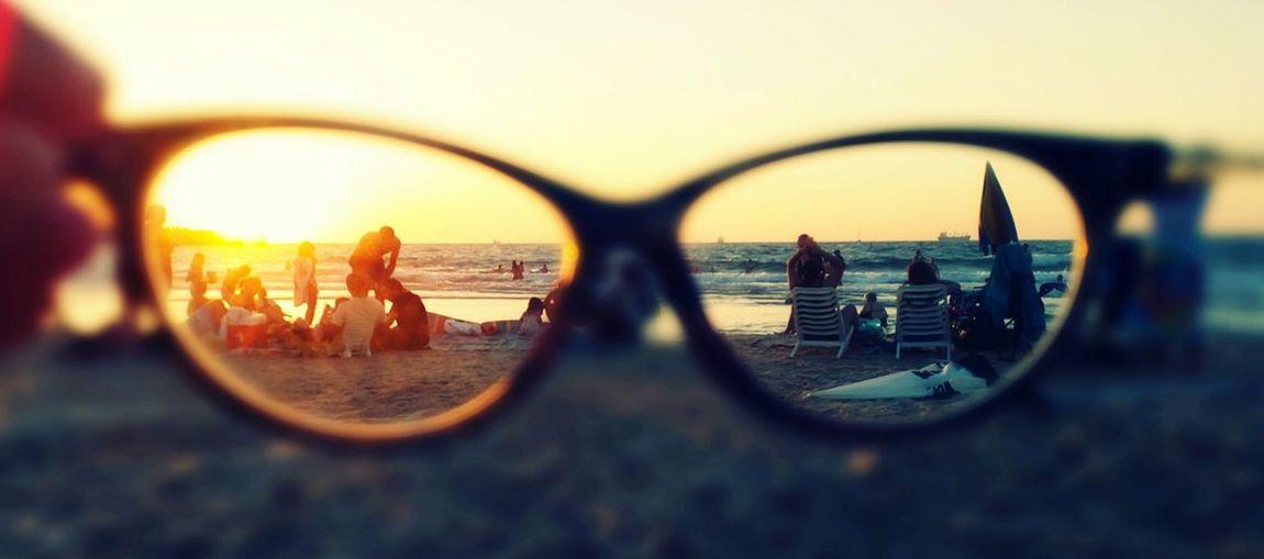 Glasses Hello World Sun Sea Nice Enjoying Life EyeEm Beautiful Sunday Glitch