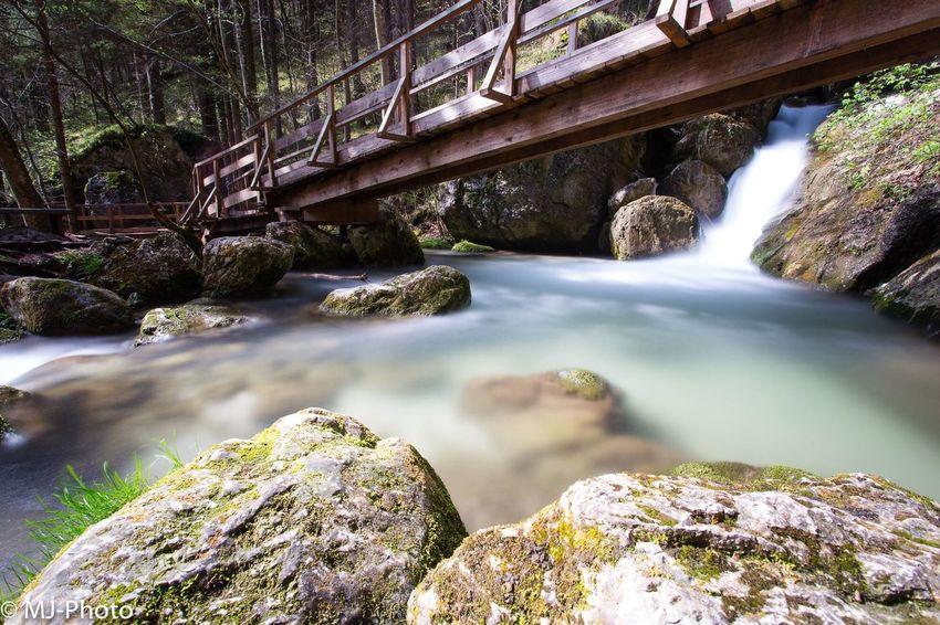 Austria Niederösterreich Myrafällle Nature Natur Outdoors Wasserfall Wasser Wald Photography Long Exposure Beauty In Nature Bridge - Man Made Structure First Eyeem Photo