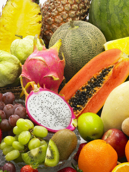 Banana Mango Pineapple Tropical Fruits Assortment Colorful Dragon Fruit Food Food And Drink Freshness Fruit Grape Guave Healthy Eating Honey Dew Large Group Of Objects No People Orange - Fruit Papaya Red Apple SLICE Strawberry Variation Variety Watermelon