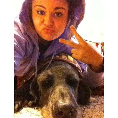 Straight up chillin with my home dawg . Nofilter Whitegirlproblems Hewascoldsoigavehimablanket Toohood InstaSize