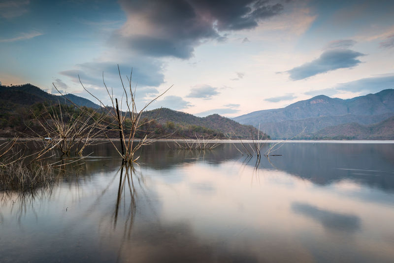 Mountain Cloud - Sky Sky Water Beauty In Nature Scenics - Nature Tranquility Reflection Lake Tranquil Scene Mountain Range Non-urban Scene Nature No People Idyllic Day Outdoors Tree Waterfront