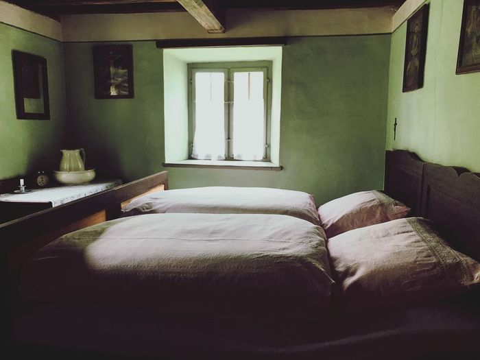 Bed Bedroom Indoors  Home Interior Pillow House Home Showcase Interior No People Architecture Day Bavaria Amerang