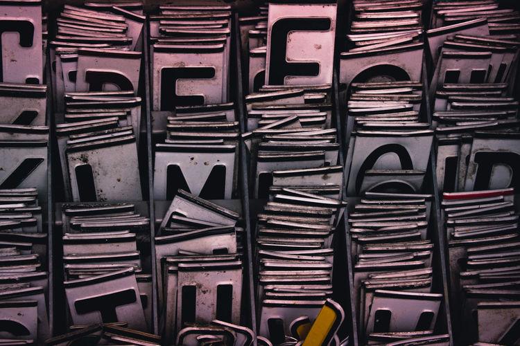 Full frame shot of metallic objects