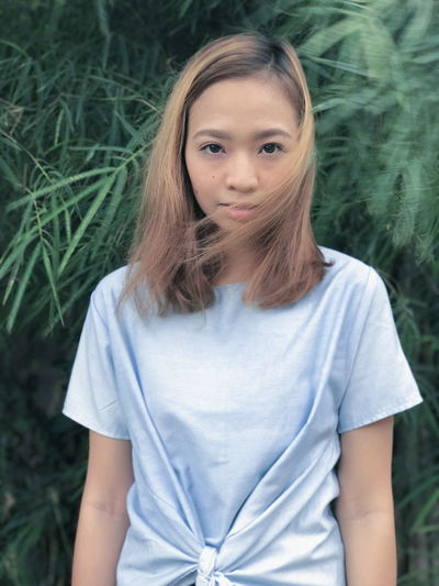 One Person Front View Portrait Teenager Looking At Camera One Girl Only Outdoors Nature Tree Girl