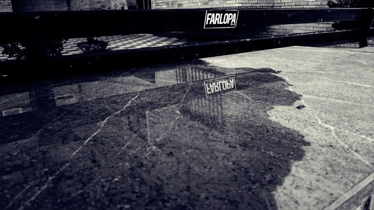 Bench Reflection Water Reflections Architecture Black And White Blackandwhite City Communication Day Guidance High Angle View Monochrome Nature No People Outdoors Road Safety Shadow Sign Street Sunlight Text Water Western Script