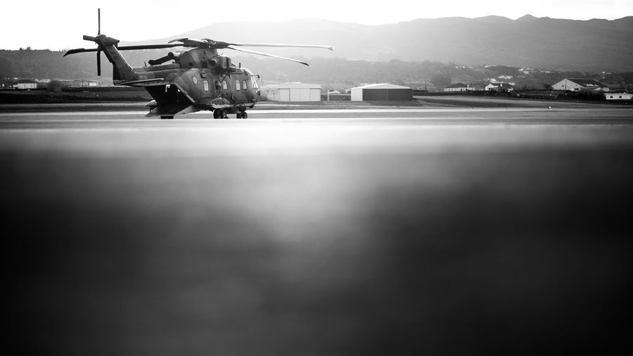 Hellicopter Military Mode Of Transport Sunset